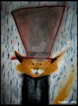 The Dandy Fox: Raindrops and Solemn Thoughts by Dandy-Jon