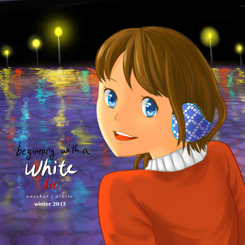 Beginning with a White Lie - Cover Page by aibite