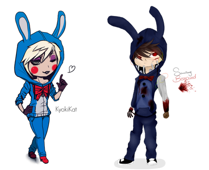 Collab: Toy and old Bonnie by KyokiLaFreakshow