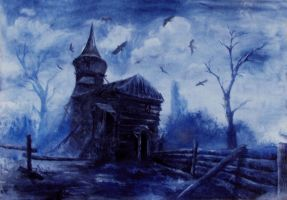Traumbild Friedhof by Lady-Kira-Night