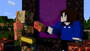 Minecraft Me and a Zombie Pigman! [Chilling] by RubytheCat12