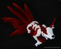 6-tailed kyuubi naruto plush: angle 2 by goiku