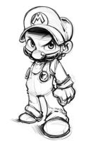 SMB-SSB: The Smash Brother-pencil sketch by SkipperWing