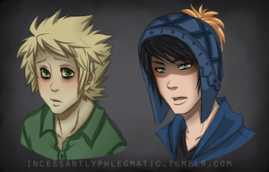 SP: Tweek and Craig Headshots by CluelessCaptain