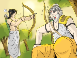 Dronacharya - Arjuna's Instructor by VachalenXEON