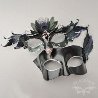 Royal Crow Duet Masks by Beadmask