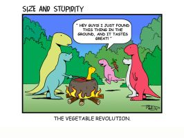 Vegetable Revolution by Size-And-Stupidity