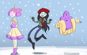 Adventure Time in Winter by Das-BAMFchen