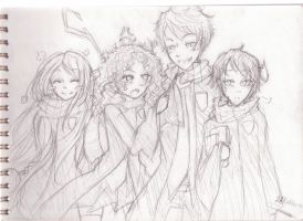 The big four (Hogwart AU) by MonkeySNorthern