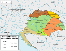 Map Union of the Danube (Greater Germany) by TiltschMaster