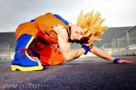 Goku ssj 2, damaged! by Alexcloudsquall