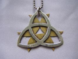Triquetra Moon Necklace by Imbrium66