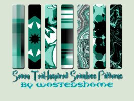 Wastedshame Free Teal Patterns by wastedshame