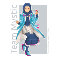 Pokemon Go Leader of Team Mystic in Hijab Version  by RIDJAM