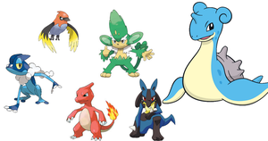 My Current X and Y Team by XavierTheTotodile