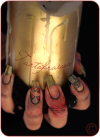 horror nails 2 by Tartofraises