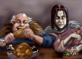 Wyman Manderly and Roose Bolton by kethryn