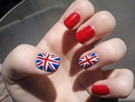 British Flag Union Jack Nails by TheNailFile