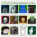 2014 Art Summary by TheArgoNinja