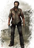 The Walking Dead- Rick Grimes by MatthewHogben