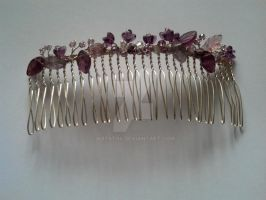 Wirewrapped silver hair comb by artst04
