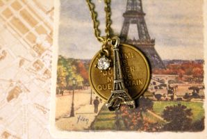 I love you Paris Necklace by MonsterBrandCrafts