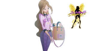 World of Winx Flora Journalism Style - PNG by Gallifrey93