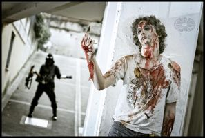 THE ZOMBIE AND THE LOL by DANCE-OR-DIE