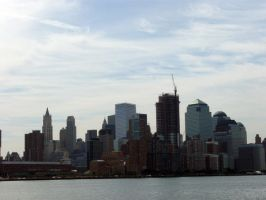 Manhattan From the Hudson by sympatheic-darkness