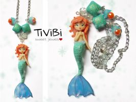 Polymer clay Mermaid by tivibi