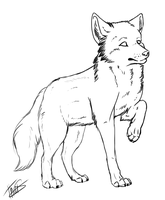 Wolf free lineart by Thaiix
