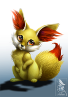 Fennekin by Araless