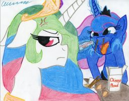 Why Celestia Doesn't Take Luna Out to Eat by The1King