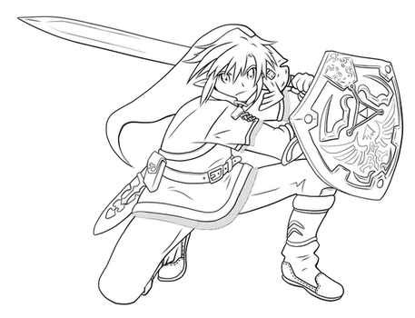 Link lineart by Cheila