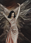 Special Edit: Eva Green Angel 1 by blackmasque99