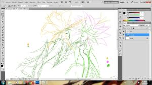 A flower love .:sketch:. by Roodiee