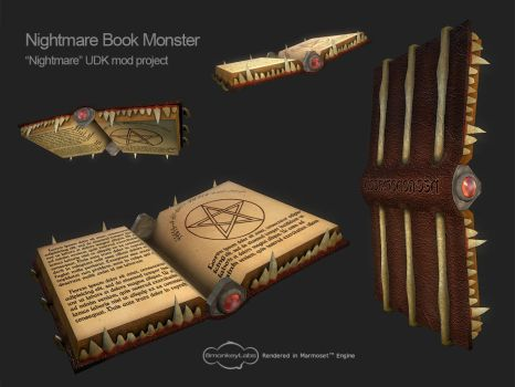 Nightmare Book Monster by Cydel