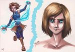 Avatar Korra [copic sketches] by lauralaima