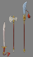 Arkh Weapons Set 4 by Shattered-Earth
