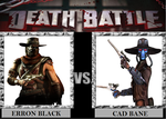 Death Battle: Cad Bane vs Erron Black by Gatlinggundemon9