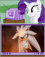 Rarity likes Silver the hedgehog. by brandonale