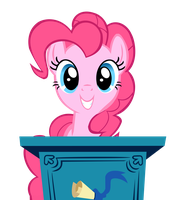 Pinkie Adorable Face Vector by DarkFlame75