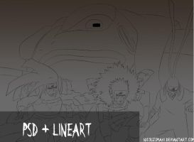 line hokages retrosediendo by nicouzumaki