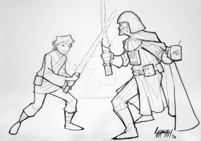 Baltimore 2010: Luke vs Vader by stratosmacca