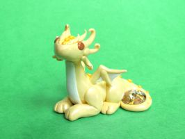 Citrine Yellow Gem Dragon by DragonsAndBeasties