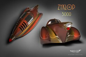 Steampunk Car Airlords ZYCLOP 3000 by Airlords