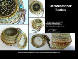 Dreamcatcher Pine Needle Basket by Arboris-Silvestre