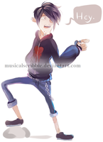 Gravity Falls: Robbie by musicalscribble