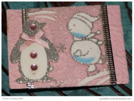 A Pink Christmas ATC 71 by Quaddles-Roost