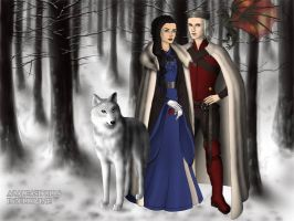 Lyanna Stark and Rhaegar Targaryen by BlackRoseOfSummer